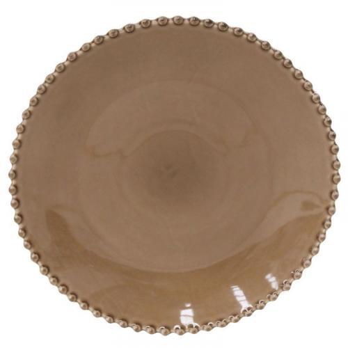 Тарелка обеденная с декорированным краем Pearl - фото
