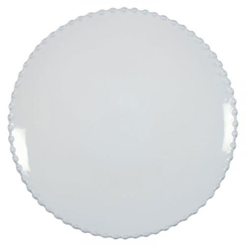 Тарелка обеденная белая в стиле прованс Pearl - фото