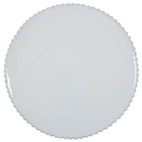 Тарелка для нарезки белая Pearl - фото
