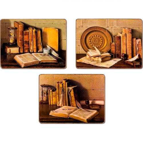 """Набор 3-х картин """"Книги"""" - фото"""