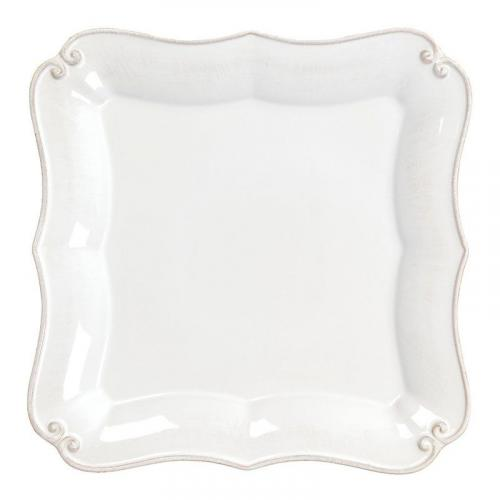 Белая обеденная тарелка Barroco - фото