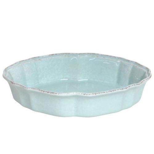 Блюдо для заливного керамическое бирюзовое Impressions - фото