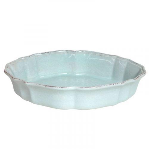 Фигурное блюдо для запекания в духовке голубого цвета Impressions - фото