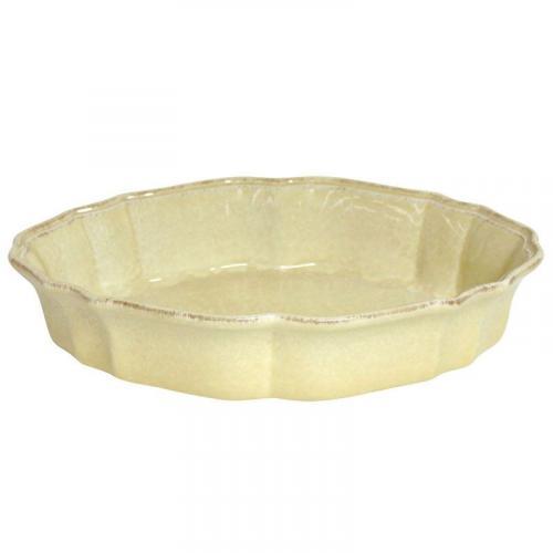Блюдо для запекания в духовке желтое керамическое Impressions - фото