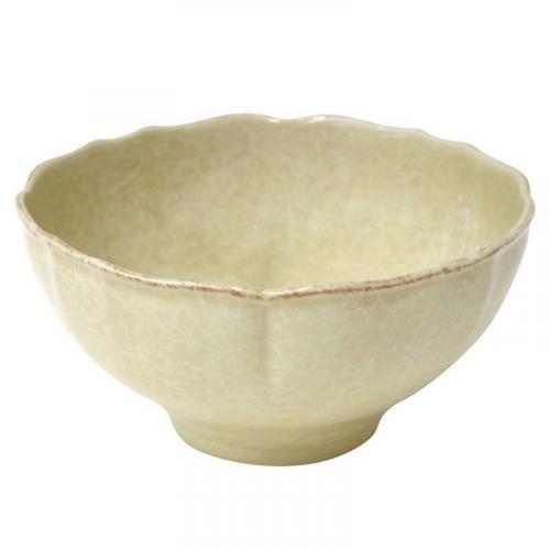 Керамический салатник желтого цвета Impressions - фото