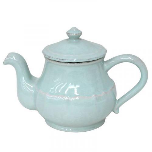 Заварник для чая из керамики бирюзовый Impressions - фото