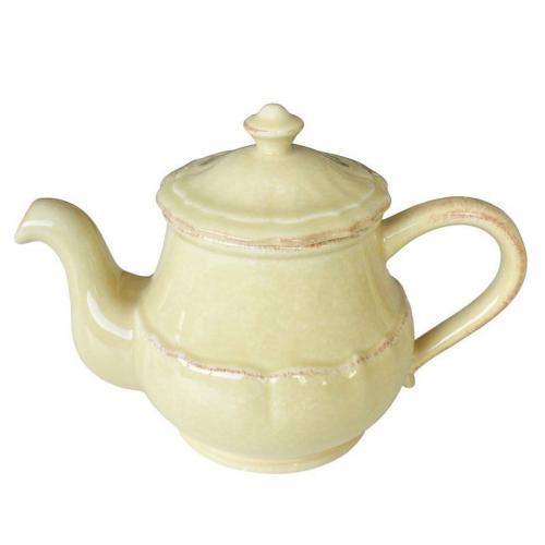 Заварник для чая керамический желтого цвета Impressions - фото