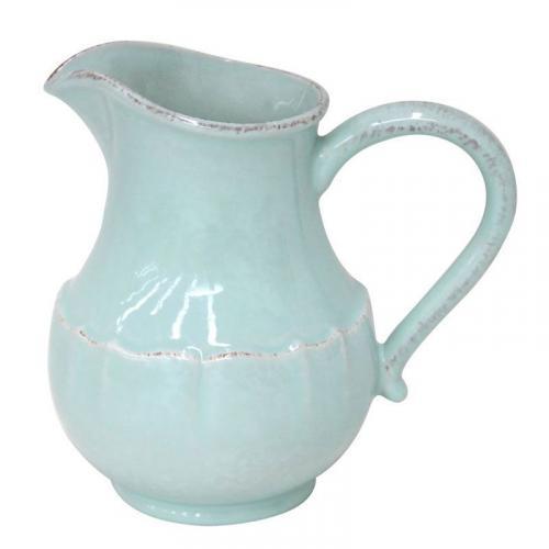 Большой кувшин голубого цвета из каменной керамики Impressions - фото
