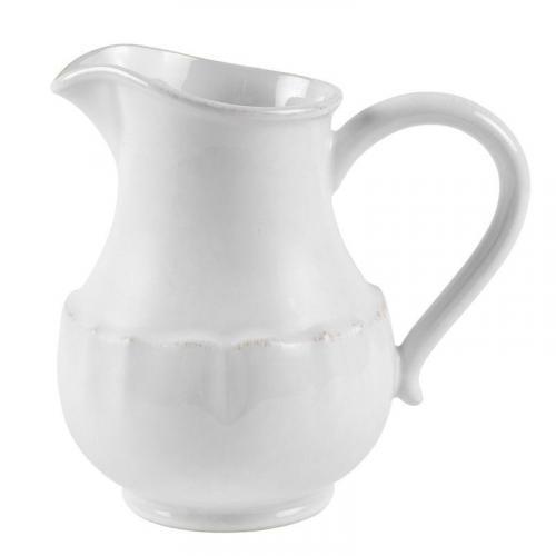 Белый керамический кувшин с потертостями Impressions - фото
