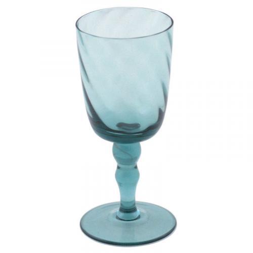 Бокал для вина стеклянный в голубом цвете Torson - фото