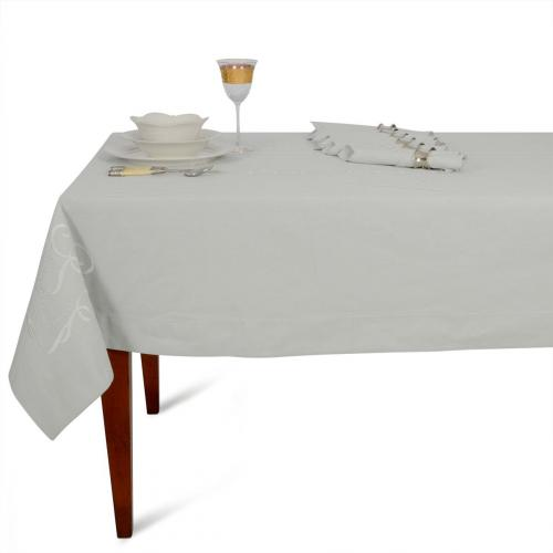 Комплект льняной из скатерти с вышивкой и 6-ти салфеток - фото
