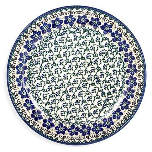 Посуда Фиалки, польская керамика - фото