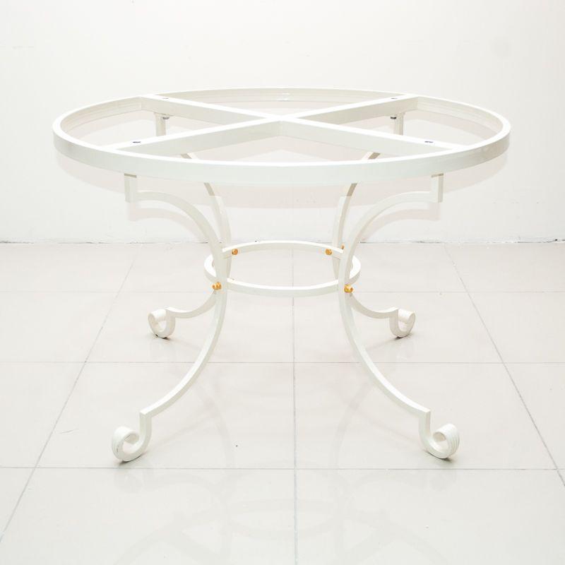 Белая металлическая база для круглой столешницы диаметром от 110 см - фото