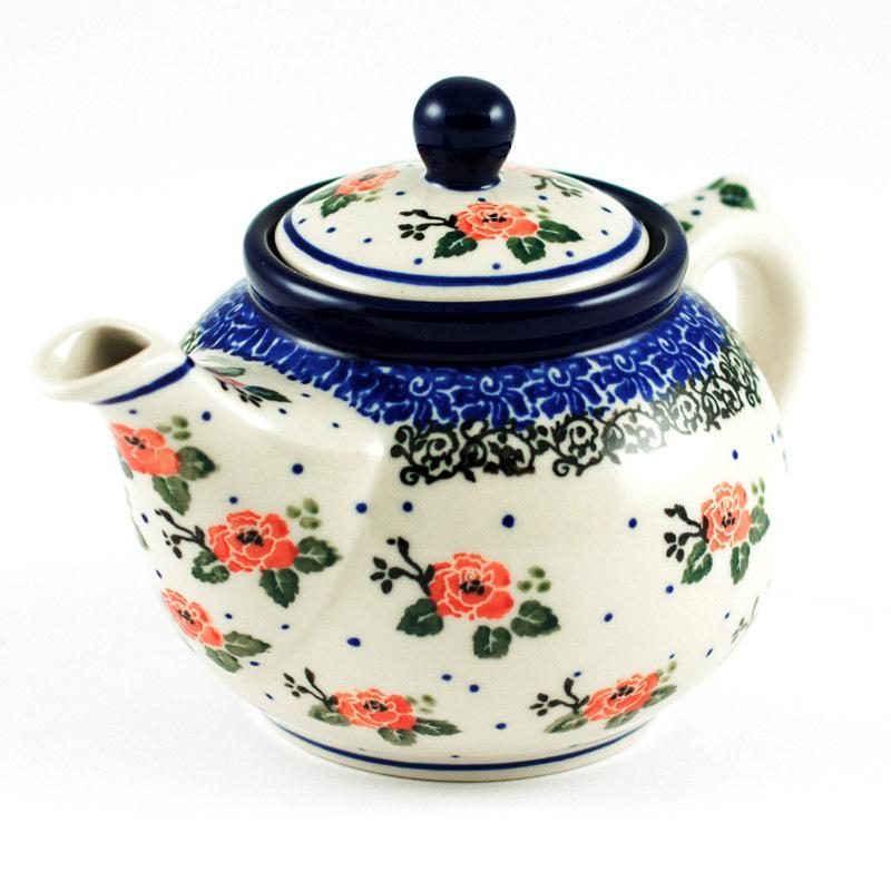"""Заварник для чая из прочной керамики """"Чайная роза"""" - фото"""