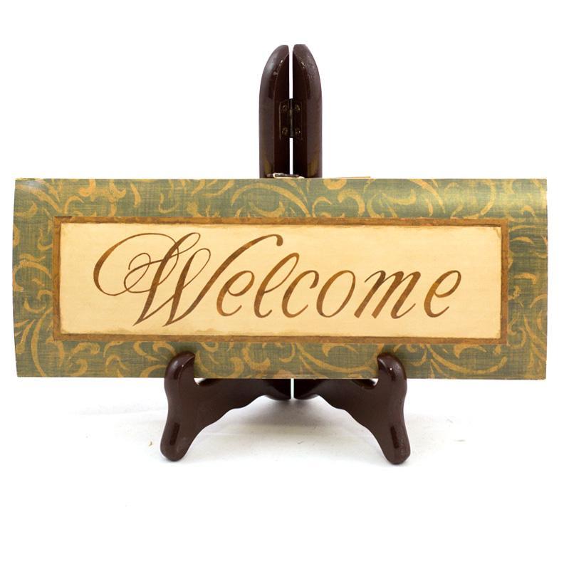 Стильная картина-декор для прихожей с принтом Welcome - фото