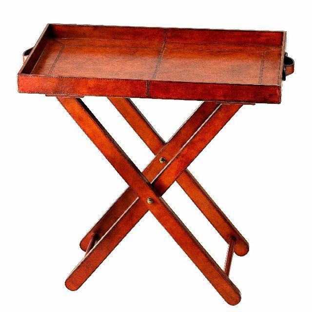 Столик-поднос кожаный Oxford - фото