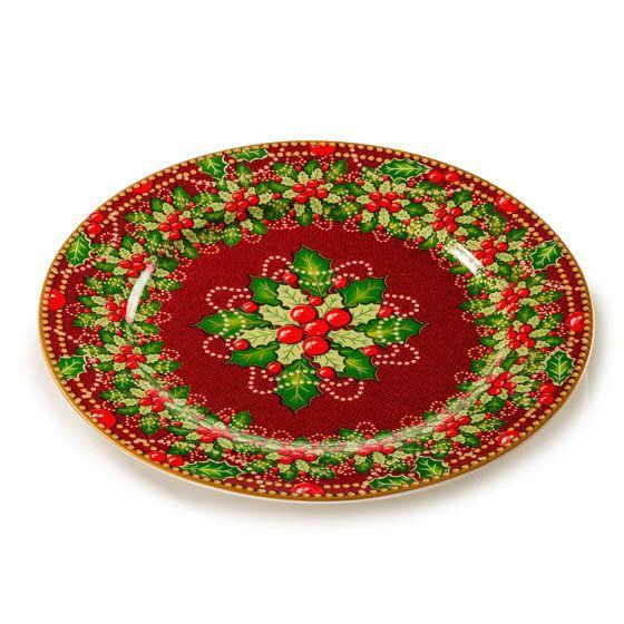 Яркая обеденная тарелка из праздничной коллекции «Исполнение желаний» - фото