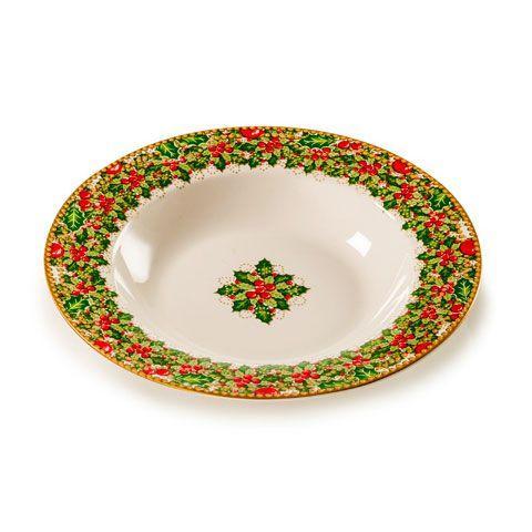 Суповая тарелка с новогодним рисунком «Исполнение желаний»  - фото