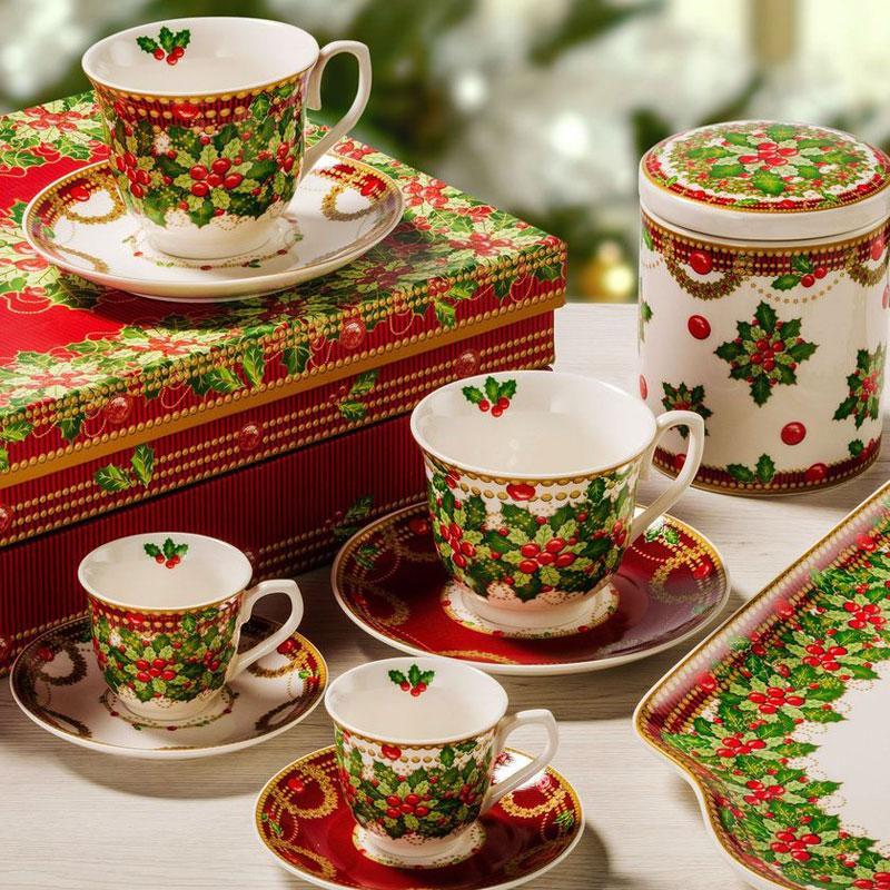 Красочная коллекция новогодней посуды «Исполнение желаний» - фото