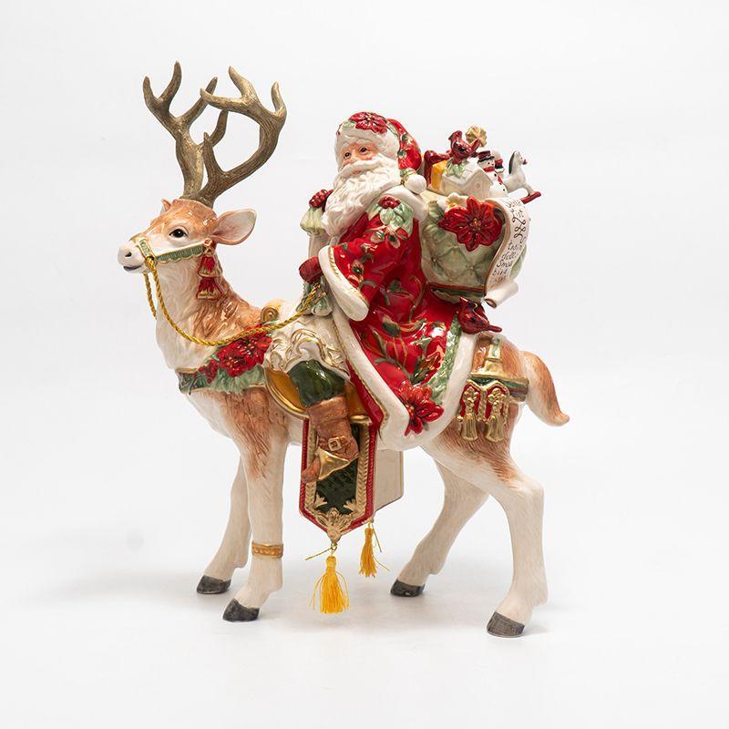 """Новогодняя статуэтка Деда Мороза - всадника """"Рождественские эмоции"""" - фото"""