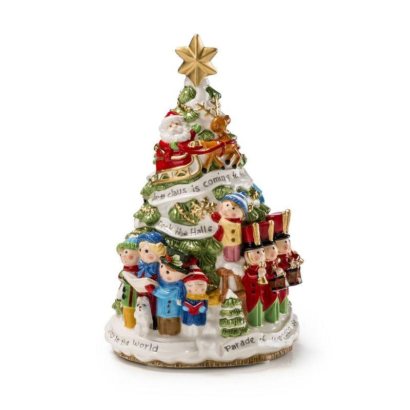 Музыкальная статуэтка в виде керамической елочки из серии «Добрые игрушки» - фото