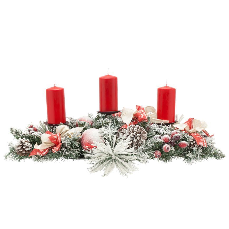Большая гирлянда-подсвечник на три свечи - фото