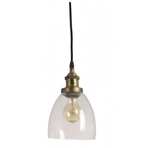Подвесной светильник прозрачный в стиле лофт - фото