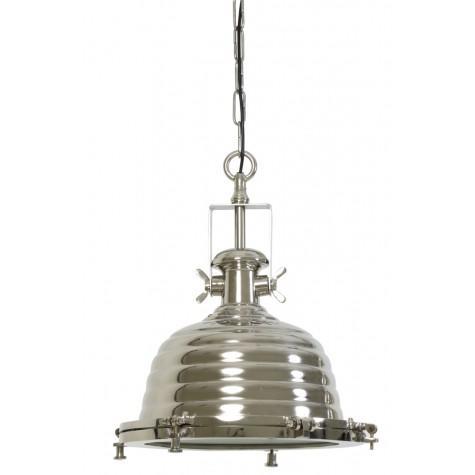 Подвесной светильник блестящий серый в стиле лофт - фото