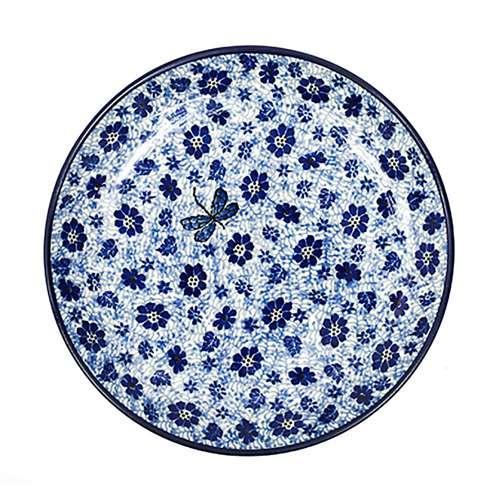 "Набор из 6-ти обеденных тарелок синего цвета ""Стрекоза"" - фото"