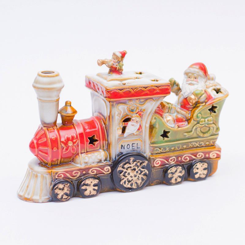 Санта на поезде - фото