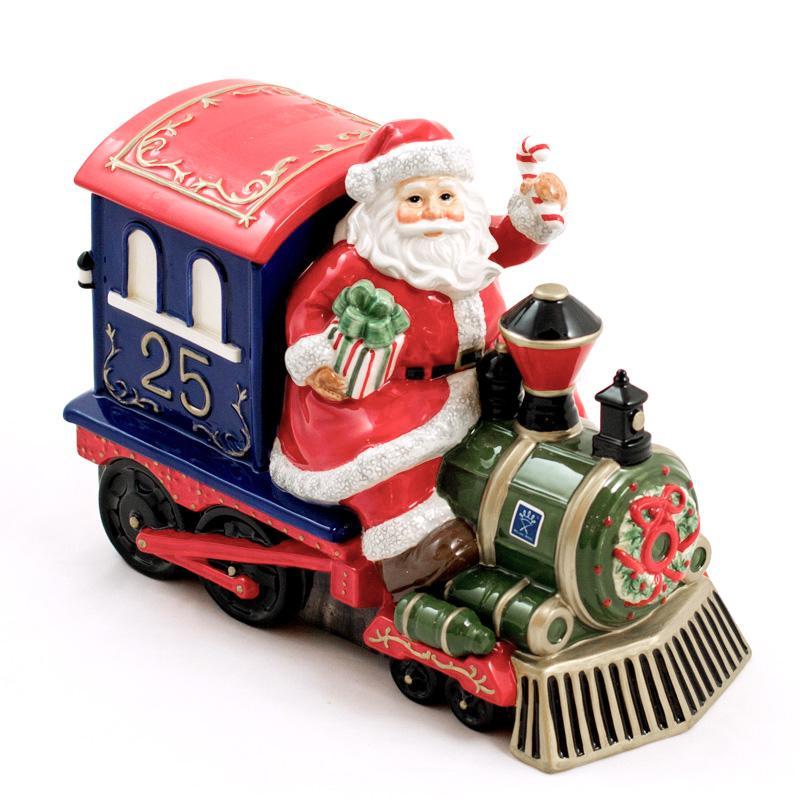 Шкатулка-поезд в Новогоднем стиле ручной работы - фото