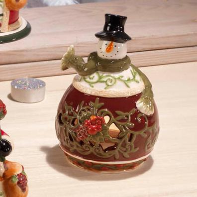 Подсвечник снеговик - фото