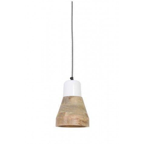 Подвесной светильник в стиле лофт деревянный - фото