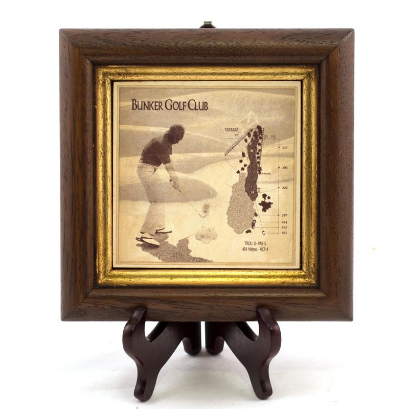 Комплект картин с принтом в стиле ретро «Гольф клуб», 4 шт.  - фото