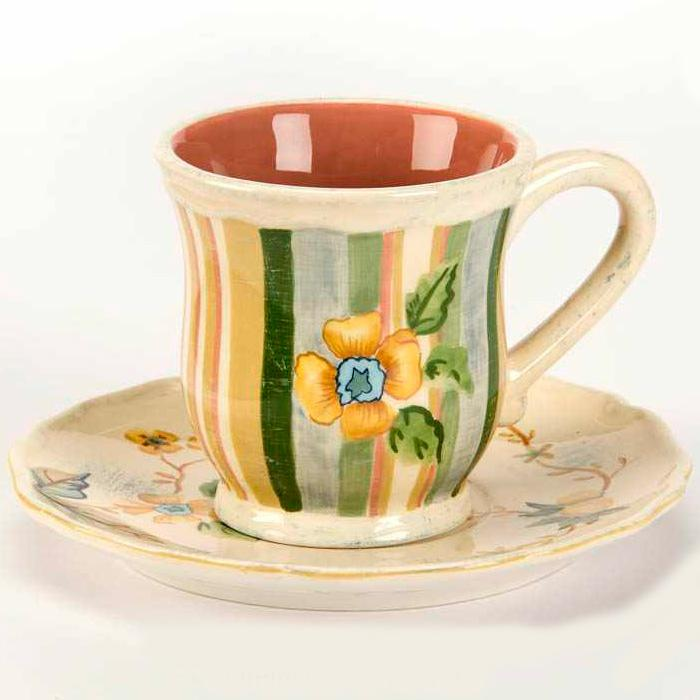 Чашка чайная с блюдцем - фото