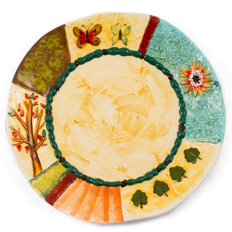 Тарелка с объемными элементами Spring - фото
