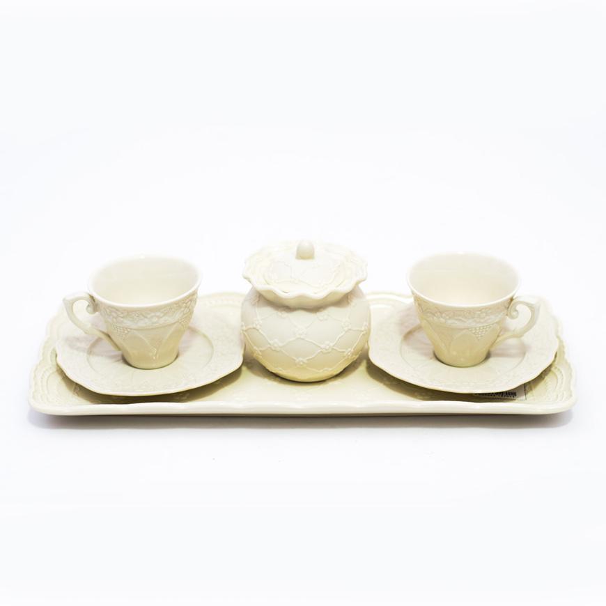 """Набор tet-a-tet для кофе """"Кружево"""" - фото"""