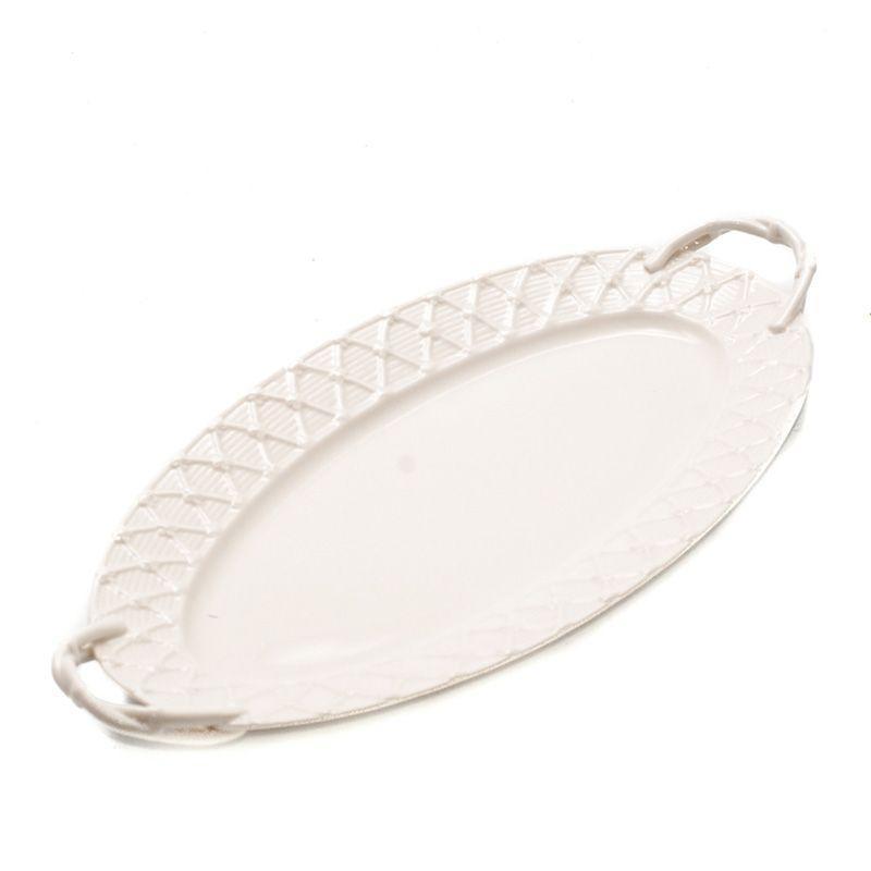 Поднос белый для чаепития Trame in bianco - фото