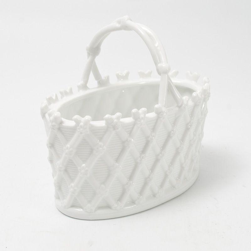 Ярко-белая сахарница Trame in bianco - фото