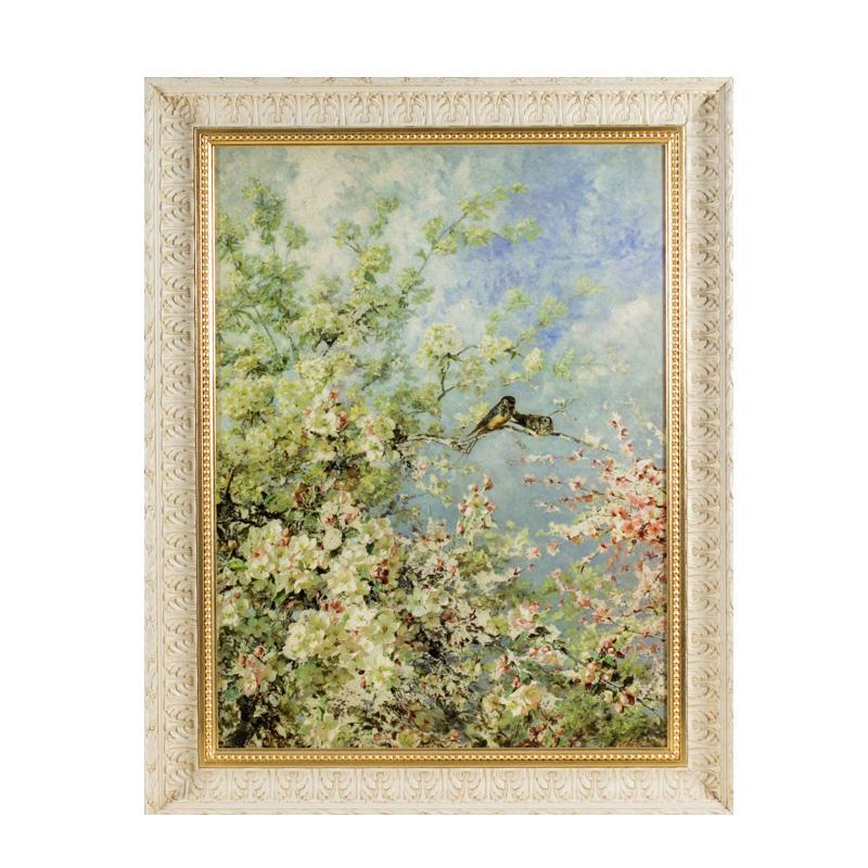 """Большая картина """"Цветы и птицы"""" - фото"""