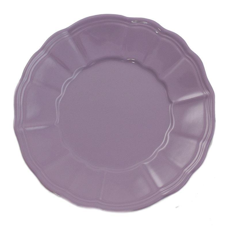 Тарелки фиолетовые, набор 6 шт Loto - фото