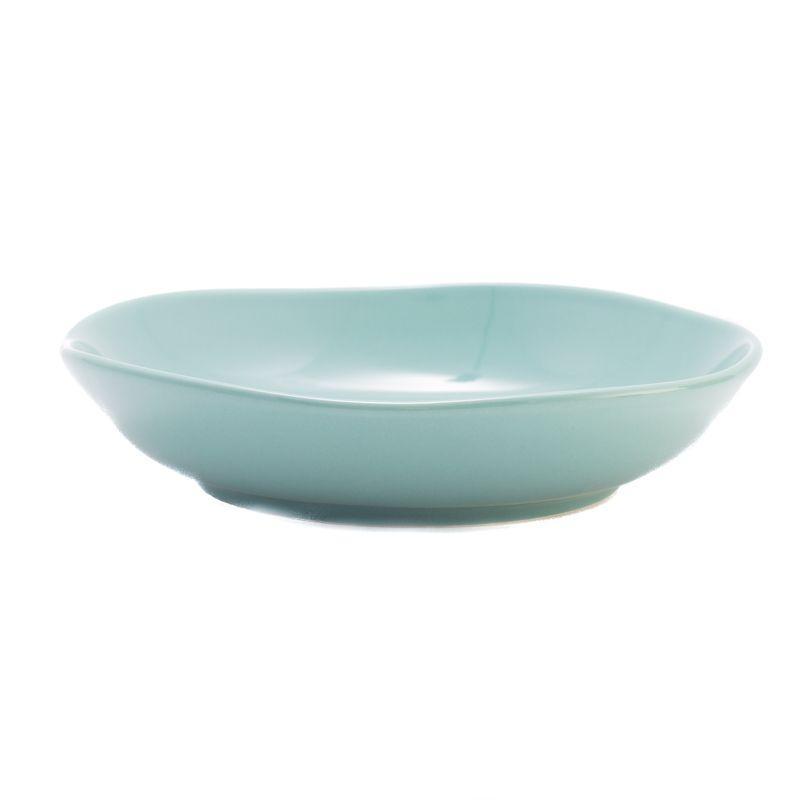 Тарелка для супа Comtesse Milano Ritmo бирюзовая  21 см - фото