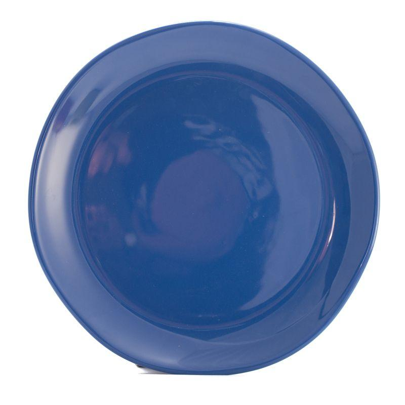 Круглое керамическое блюдо из синей коллекции Ritmo - фото