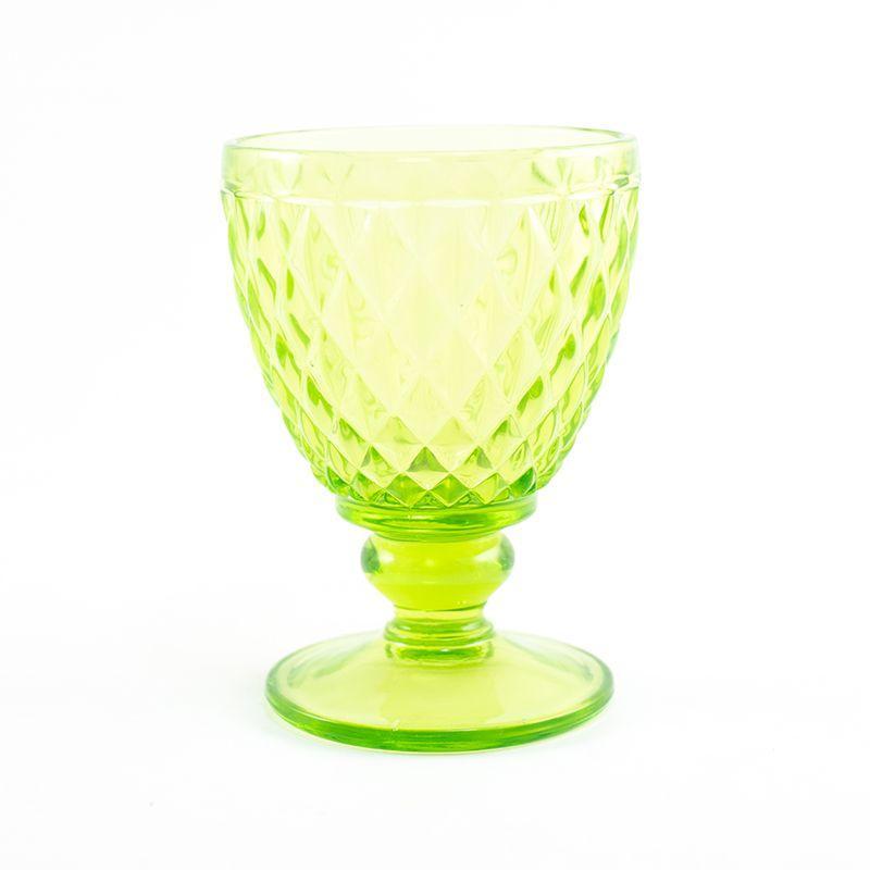 Набор рельефных бокалов для вина зеленого цвета Toscana Maison, 6 шт - фото