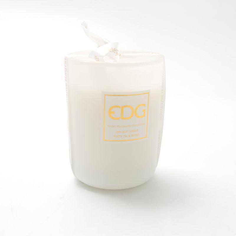Свеча белая в стакане - фото