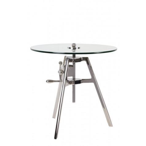 Столик никелевый с регулятором высоты - фото