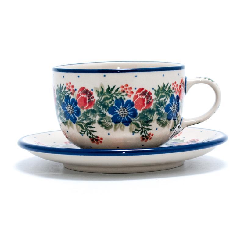 Чашка с блюдцем маленькая - фото