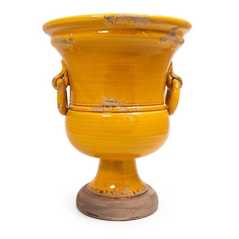 """Оранжевая керамическая ваза """"Помпеи"""" Bizzirri - фото"""