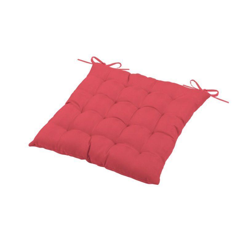 Стеганая красная подушка для сиденья стула Sunny - фото