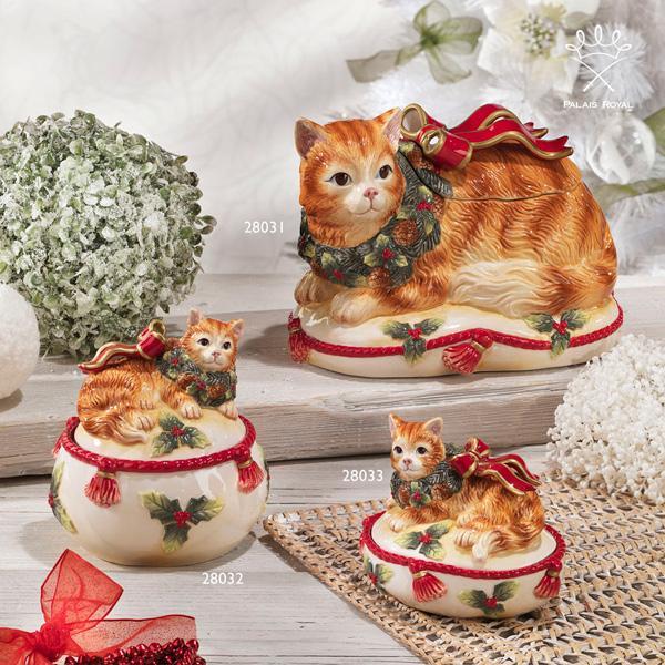 """""""Нарядный котенок"""" - новогодняя праздничная посуда - фото"""